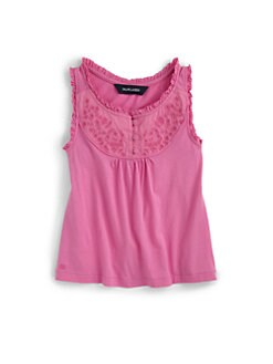 Ralph Lauren - Toddler's & Little Girl's Embroidered Bib Tank Top