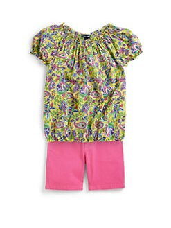 Ralph Lauren - Girl's Paisley Smocked Blouse
