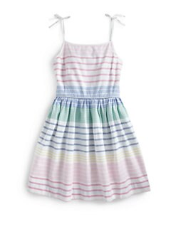 Ralph Lauren - Girl's Striped Oxford Dress