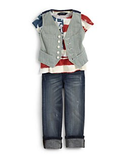 Ralph Lauren - Toddler's & Little Girl's Striped Vest