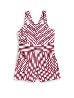 Ralph Lauren - Toddler's & Little Girl's Striped Romper