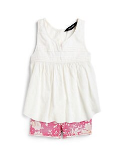 Ralph Lauren - Toddler's & Little Girl's Pleated Dobby Tank Top