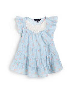 Ralph Lauren - Toddler's & Little Girl's Floral Flutter Top