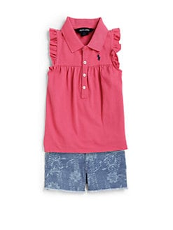 Ralph Lauren - Toddler's & Little Girl's Ruffled Polo Shirt