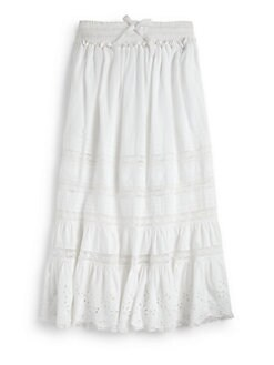 Ralph Lauren - Girl's Lace Embroidered Maxi Skirt