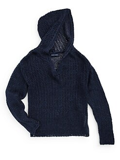 Ralph Lauren - Girl's Henley Knit Hoodie
