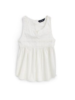 Ralph Lauren - Girl's Pleated Dobby Tank Top