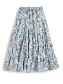 Ralph Lauren - Girl's Tiered Floral Maxi Skirt