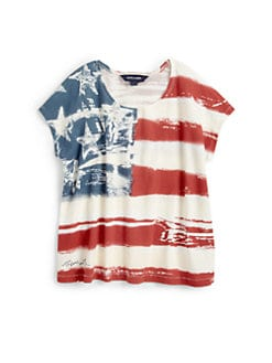 Ralph Lauren - Girl's Flag Tee