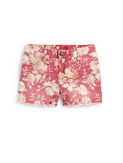 Ralph Lauren - Girl's Cutoff Floral Denim Shorts