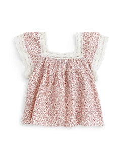 Ralph Lauren - Toddler's & Little Girl's Lace Flutter Top