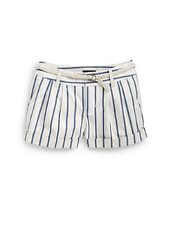 Ralph Lauren - Girl's Striped Chino Shorts