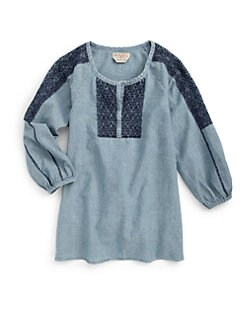 Ralph Lauren - Girl's Embroidered Denim Top