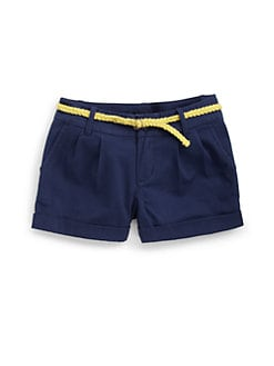 Ralph Lauren - Girl's Pleated Chino Shorts