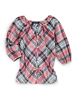 Ralph Lauren - Girl's Plaid Madras Top