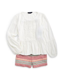 Ralph Lauren - Girl's Crinkled Cotton Top