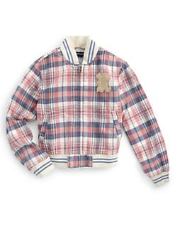 Ralph Lauren - GIrl's Plaid Baseball Jacket