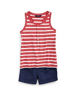 Ralph Lauren - Girl's Striped Sequin Tank Top