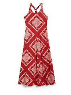 Ralph Lauren - Girl's Bandana Maxi Dress