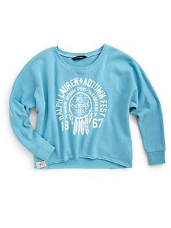 Ralph Lauren - Girl's Autumn Fest Cutoff Sweatshirt