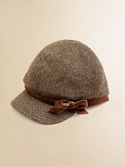 Ralph Lauren - Girl's Wool Tweed Herringbone Cap