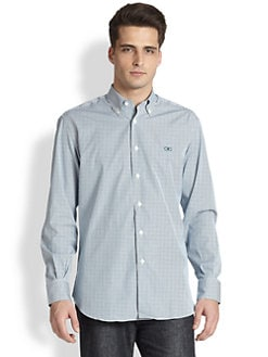 Salvatore Ferragamo - Striped Cotton Sporthshirt