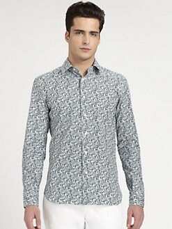 Salvatore Ferragamo - Gancini-Print Sportshirt