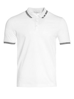 Salvatore Ferragamo - Striped Polo
