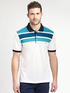 Salvatore Ferragamo - Striped Cotton Polo
