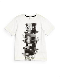 Diesel - Toddler's & Little Boy's Top Hats & Skull Tee