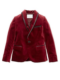 Gucci - Boy's Velvet Jacket