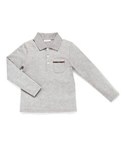 Gucci - Boy's Cotton Piquet Polo Shirt