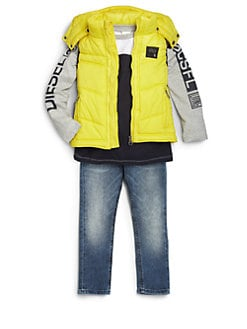 Diesel - Toddler's & Little Boy's Hooded Puffer Vest