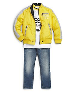 Diesel - Toddler's & Little Boy's Reversible Bomber Jacket
