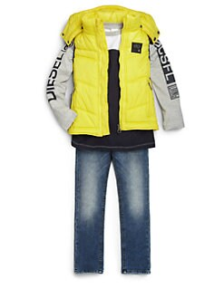 Diesel - Boy's Hooded Puffer Vest