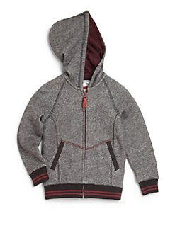 Little Marc Jacobs - Boy's Marled Zip-Front Hoodie