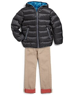 Add Down - Boy's Reversible Hooded Down Jacket