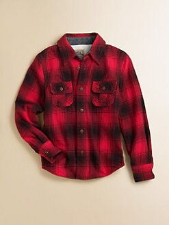 True Religion - Toddler's & Little Boy's Thermal-Lined Plaid Flannel Shirt