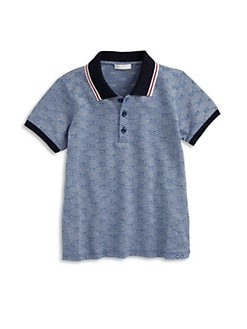 Gucci - Toddler's & Little Boy's Logo Pattern Polo