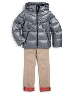 Add Down - Boy's Hooded Down Puffer Jacket
