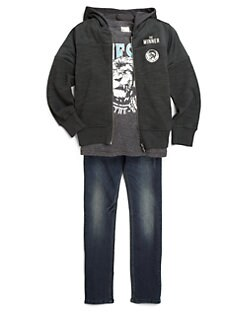 Diesel - Boy's Fleece Zip-Up Hoodie