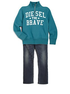 Diesel - Little Boy's Half-Zip Fleece Sweater