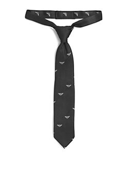 Armani Junior - Toddler & Little Boy's Silk Logo Tie