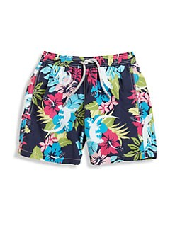 Vilebrequin - Little Boy's Floral Gecko Swim Trunks