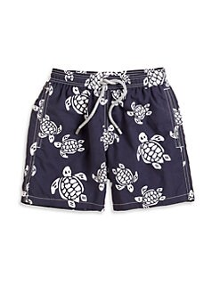 Vilebrequin - Little Boy's Classic Turtle Swim Trunks