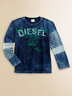 Diesel - Little Boy's Enzyme-Washed Tee