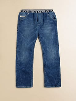 Diesel - Little Boy's Ribbed Waist Straight Leg Jeans