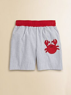 Florence Eiseman - Toddler's & Little Boy's Seersucker Crab Swim Trunks
