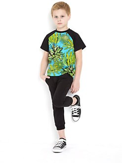 Versace - Toddler's & Little Boy's Raglan-Sleeve Print Tee