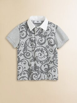 Versace - Toddler's & Little Boy's Front-Print Polo